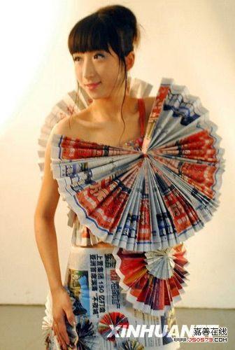 废品手工制作模特衣服