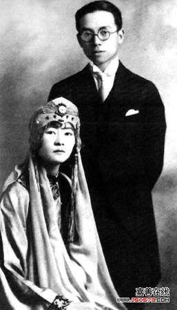 梁思成与林徽因的结婚照图片