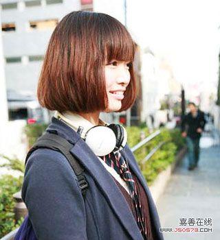 大学生短发空气刘海图分享展示