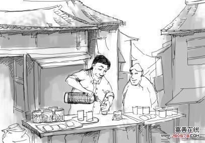 手绘农家房屋设计图