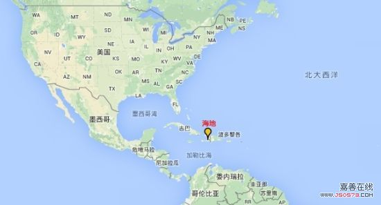 海地地理位置