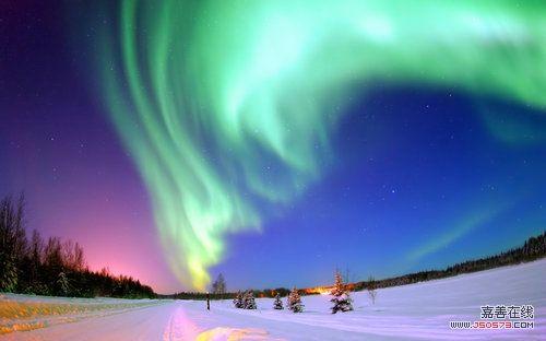 天空极光最美风景图片