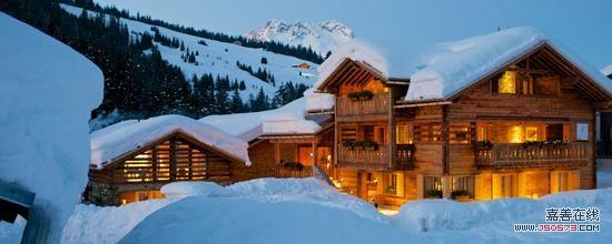 阿尔卑斯山脉区域附近的小木屋
