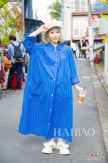 2016春夏东京时装周秀场外街拍-明星潮人示范 秋日不同长度头发怎么图片