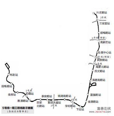 宁波地铁5号线一期有望年内开工 设置22个车站图片