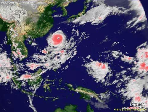 """6时25分超强台风""""杜鹃""""卫星云图.台风风眼清晰,结构稳定.(图片"""