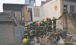 宁波一民房因液化气泄漏爆炸坍塌 一名租客死亡