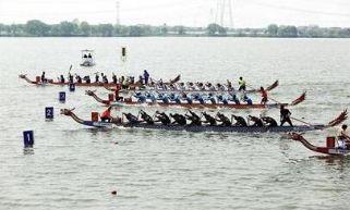 全运会浙江省龙舟选拔赛 昨在汾湖水上运动中心开赛